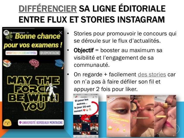 • Stories pour promouvoir le concours qui se déroule sur le flux d'actualités. • Objectif = booster au maximum sa visibili...