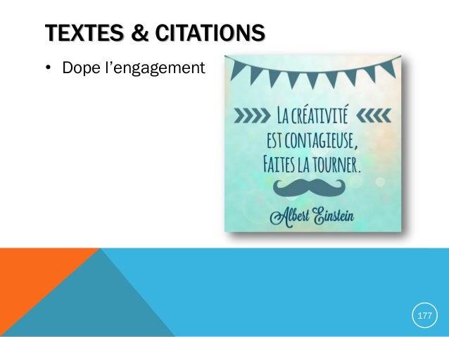 TEXTES & CITATIONS • Dope l'engagement 177