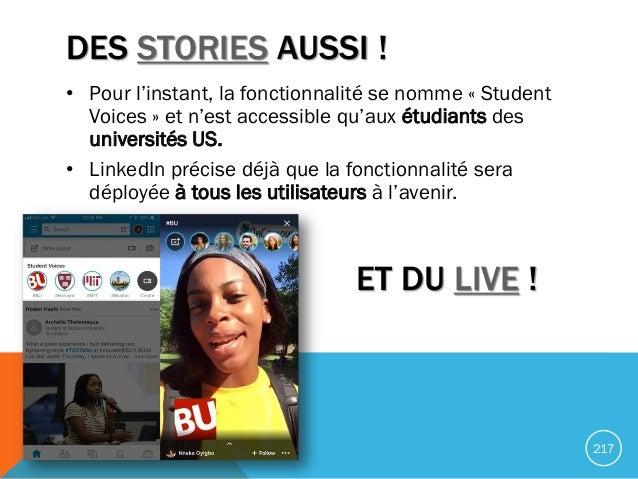 DES STORIES AUSSI ! • Pour l'instant, la fonctionnalité se nomme « Student Voices » et n'est accessible qu'aux étudiants d...