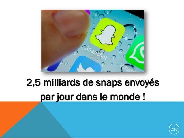 2,5 milliards de snaps envoyés par jour dans le monde ! 236
