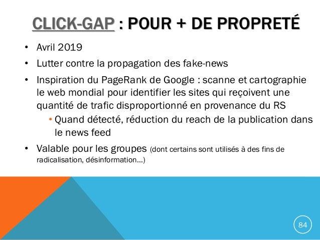 CLICK-GAP : POUR + DE PROPRETÉ • Avril 2019 • Lutter contre la propagation des fake-news • Inspiration du PageRank de Goog...