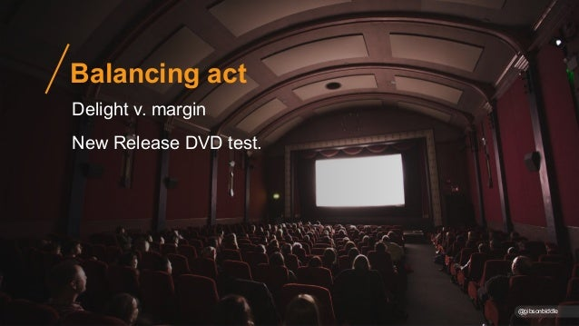 Balancing act @gibsonbiddle Delight v. margin New Release DVD test.
