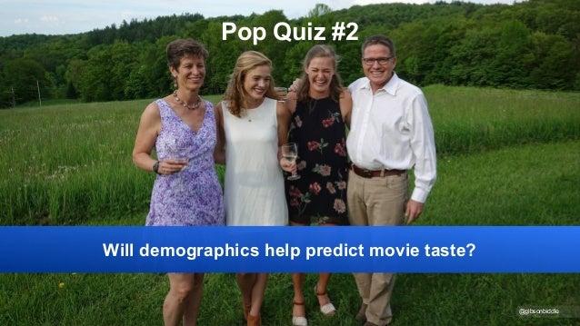 @gibsonbiddle Pop Quiz #2 Will demographics help predict movie taste?