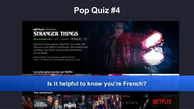 Pop Quiz #4 Is it helpful to know you're French?