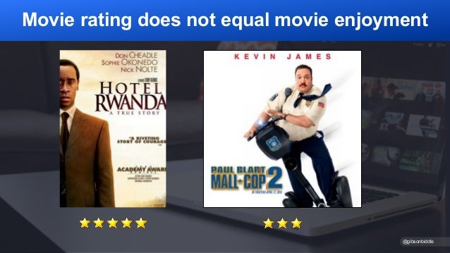 @gibsonbiddle Movie rating does not equal movie enjoyment