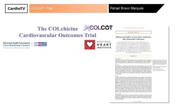 COLCOT Trial Rafael Bravo Marqués