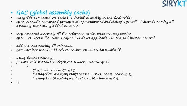 1assembly in c#