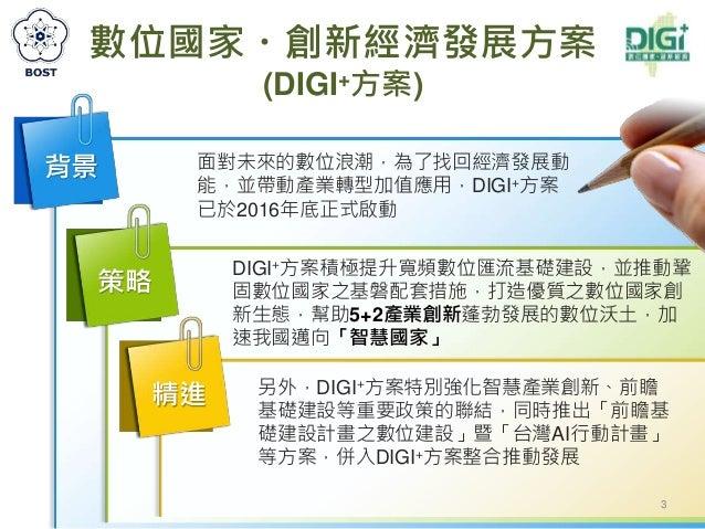 20180503行政院科技會報辦公室:「數位國家‧創新經濟發展方案(2017~2025年)推動成果」報告(簡報) Slide 3