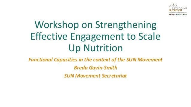 workshop on strengthening effective engagement to scale up nutrition functional capacities in the context of the