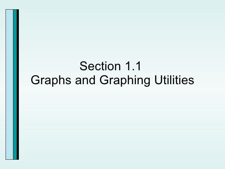 Section 1.1  Graphs and Graphing Utilities
