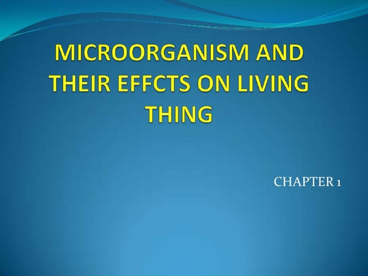 MICROORGANISM AND THEIR EFFCTS ON LIVING THING<br />CHAPTER 1<br />