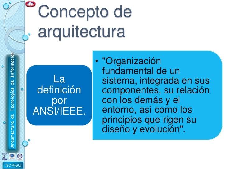 1 1 concepto de arquitectura de tecnologias de informacion for Concepto de arquitectura