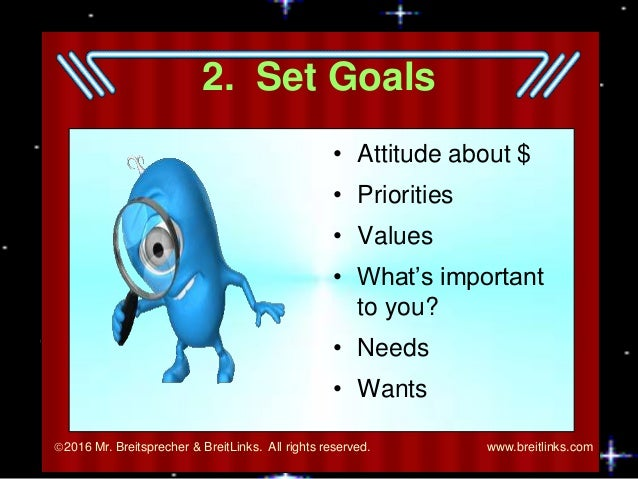 goal prioties attuides Make short-, mid-, and long-term goals that are realistic and specific and commit to them set priorities for reaching your goals as a basis for time management develop an attitude for success learn to use strategies for staying focused and motivated network with other students to help ensure academic success.