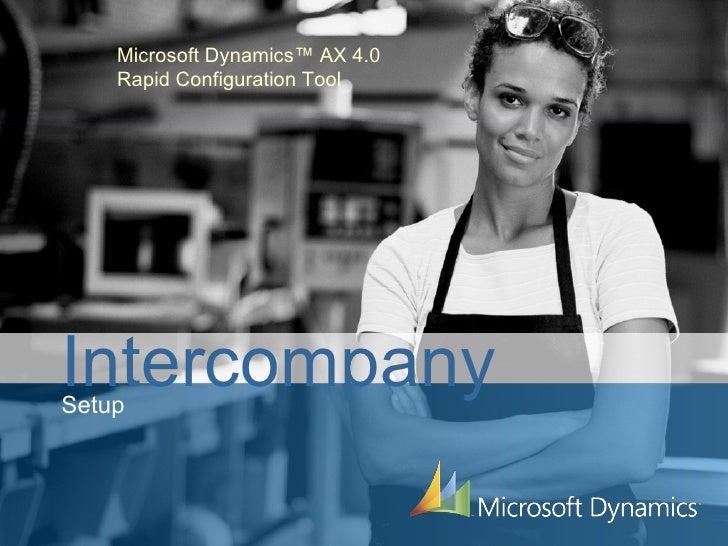 Microsoft Dynamics™ AX 4.0 Rapid Configuration Tool Intercompany Setup