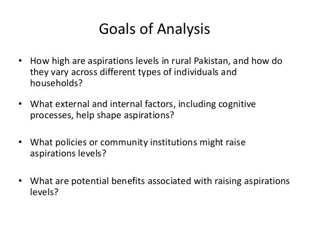 Aspirations in Rural Pakistan An Empirical Analysis by Katrina Kosec