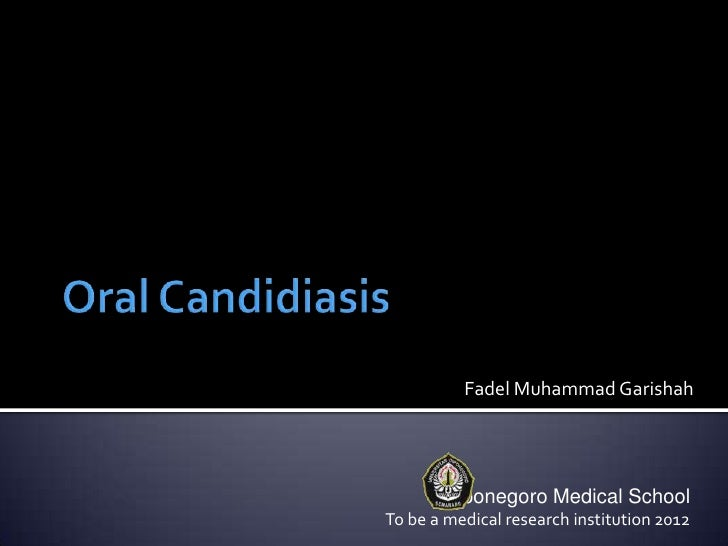 Fadel Muhammad Garishah       Diponegoro Medical SchoolTo be a medical research institution 2012