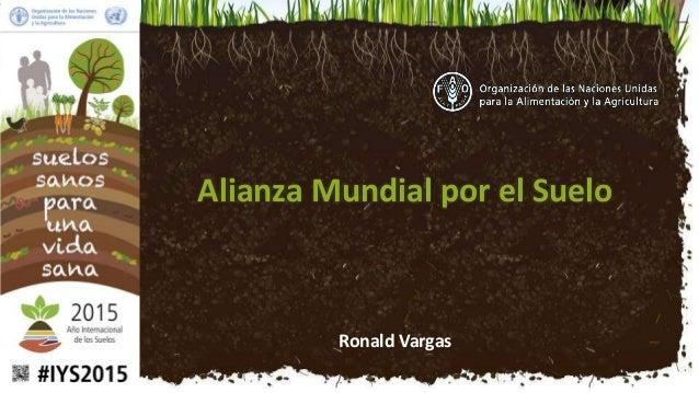 Ronald Vargas Alianza Mundial por el Suelo