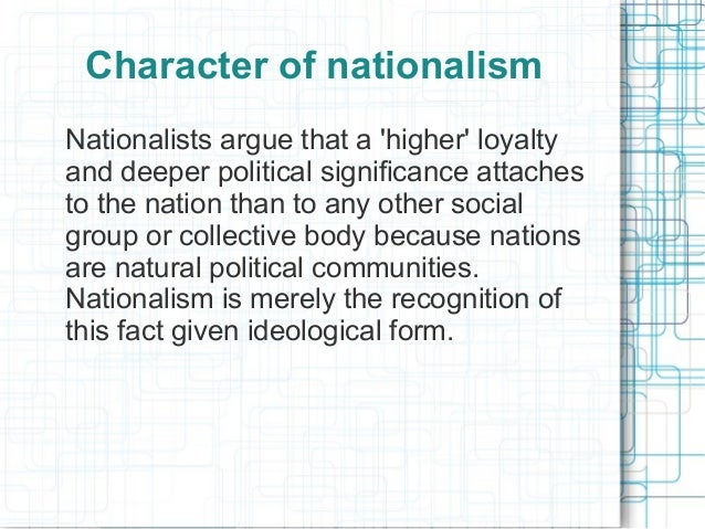 what is the importance of nationalism