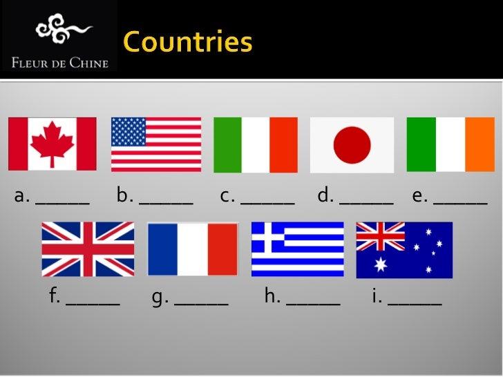 USA   England   Japan   Italy   Greece