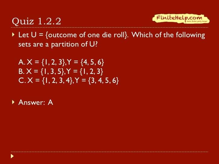 Finite Math Venn Diagrams And Partitions