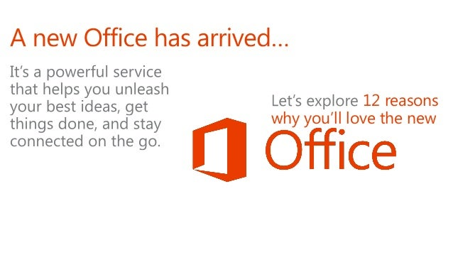12 Reasons You'll Love the New Microsoft Office Slide 2