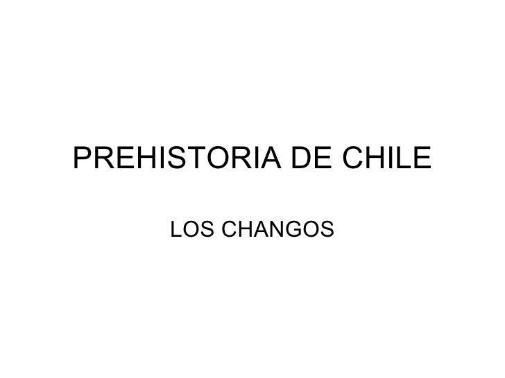 PREHISTORIA DE CHILE LOS CHANGOS