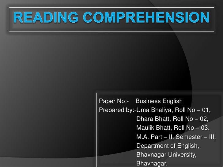 Paper No:- Business EnglishPrepared by:-Uma Bhaliya, Roll No – 01,             Dhara Bhatt, Roll No – 02,             Maul...