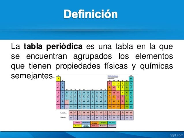 Tabla periodica definicion choice image periodic table and sample tabla periodica definicion quimica images periodic table and tabla periodica de los elementos quimicos 30 de urtaz Images
