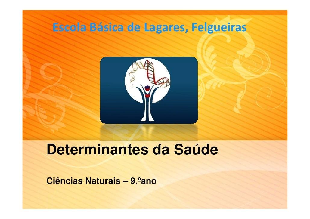 EscolaBásicadeLagares,FelgueirasDeterminantes da SaúdeCiências Naturais – 9.ºano                    9. ano