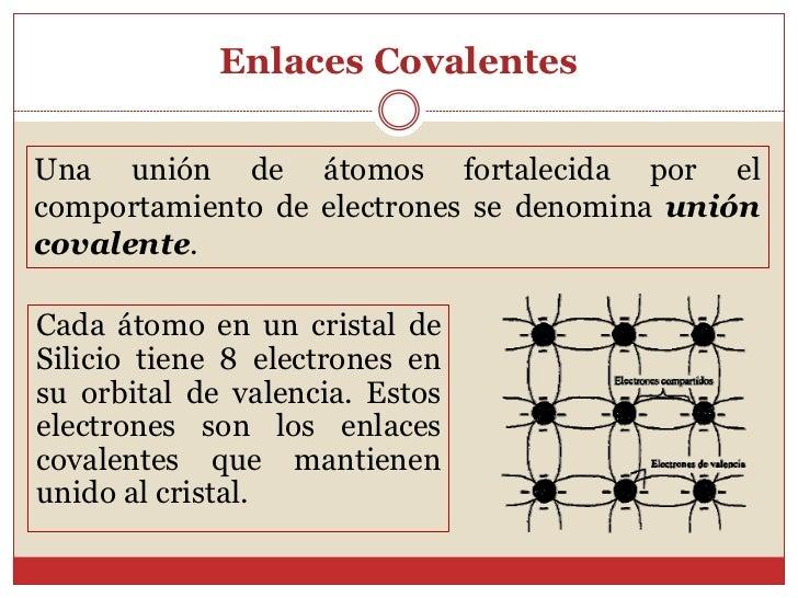 Enlaces CovalentesUna unión de átomos fortalecida por elcomportamiento de electrones se denomina unióncovalente.Cada átomo...