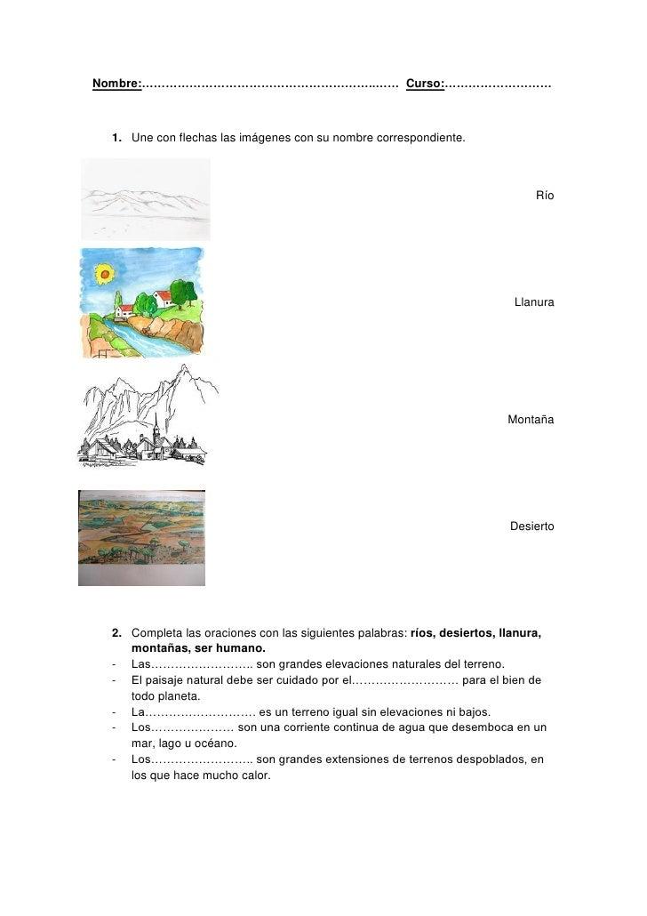Dibujos Para Colorear De Montanas Llanuras Rios Lagos Y