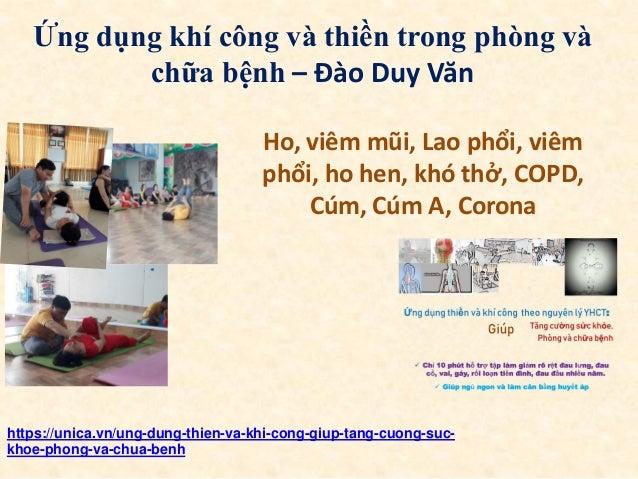 Ứng dụng khí công và thiền trong phòng và chữa bệnh – Đào Duy Văn https://unica.vn/ung-dung-thien-va-khi-cong-giup-tang-cu...
