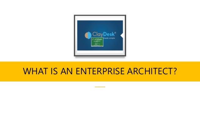 WHAT IS AN ENTERPRISE ARCHITECT?
