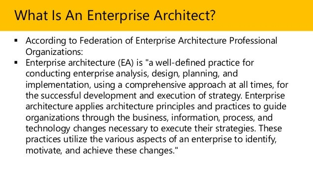What Is An Enterprise Architect? In 2 Minutes Slide 2
