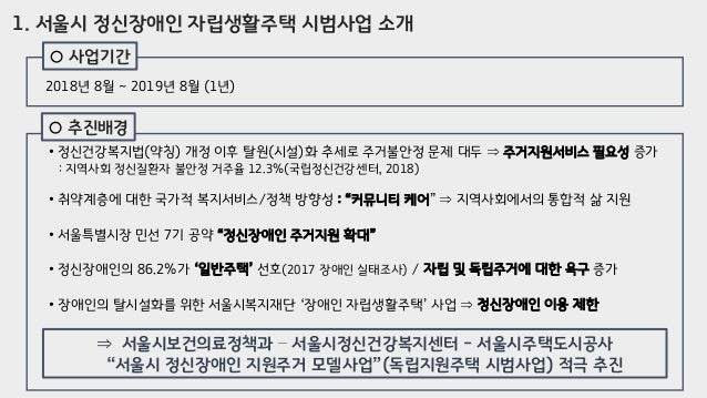 [제4회 지원주택 컨퍼런스] 세션2_박가영&황조성_서울시 정신장애인 자립생활주택 시법사업, 그 후 1년 Slide 3