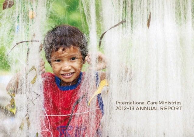 2012-13 ANNUAL REPORTInternational Care Ministries