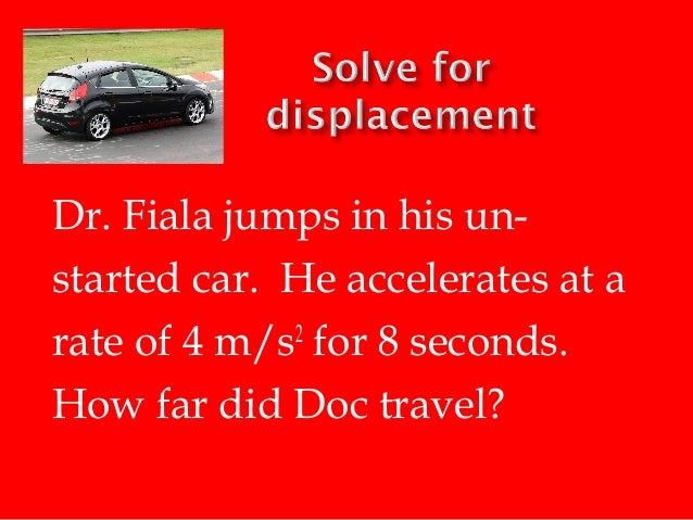 A Car Accelerates At A Rate Of   M S