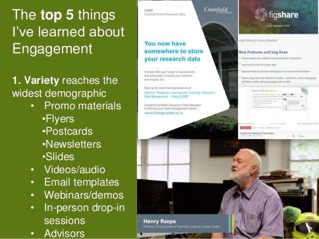 11 The top 5 things I've learned about Engagement 1. Variety reaches the widest demographic • Promo materials •Flyers •Pos...