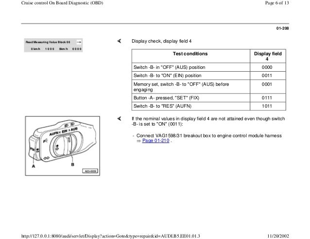 Audi Cruise Control Diagram Wiring Diagram