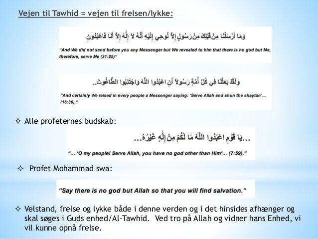 """ Hvorfor kun 1 gud og ikke flere?  Betydningen af """"shirk""""  Typer af shirk: - Sætter partnerskabet ved siden Gud - Shirk..."""