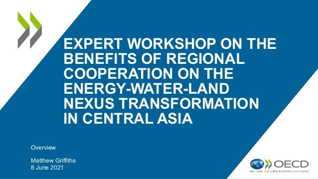EXPERT WORKSHOP ON THE BENEFITS OF REGIONAL COOPERATION ON THE ENERGY-WATER-LAND NEXUS TRANSFORMATION IN CENTRAL ASIA Over...