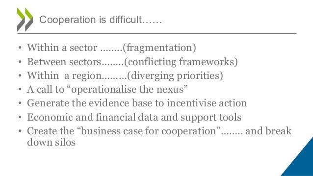 • Within a sector ……..(fragmentation) • Between sectors……..(conflicting frameworks) • Within a region………(diverging priorit...