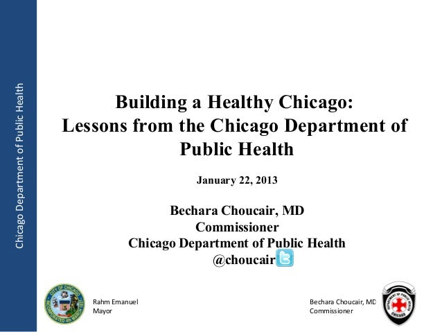 Chicago Department of Public Health                                            Building a Healthy Chicago:                ...
