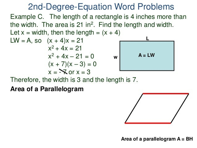 how to create an equation of a 2 degree