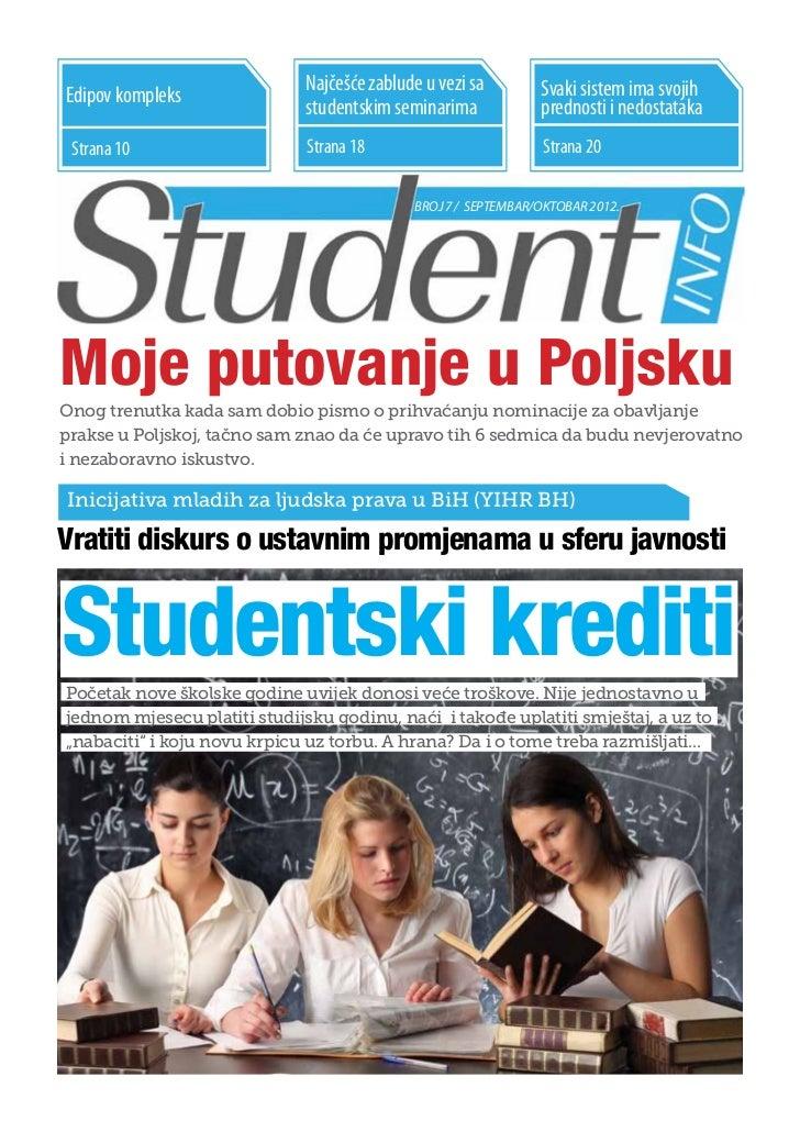 Najčešće zablude u vezi sa        Svaki sistem ima svojihEdipov kompleks                              studentskim seminari...