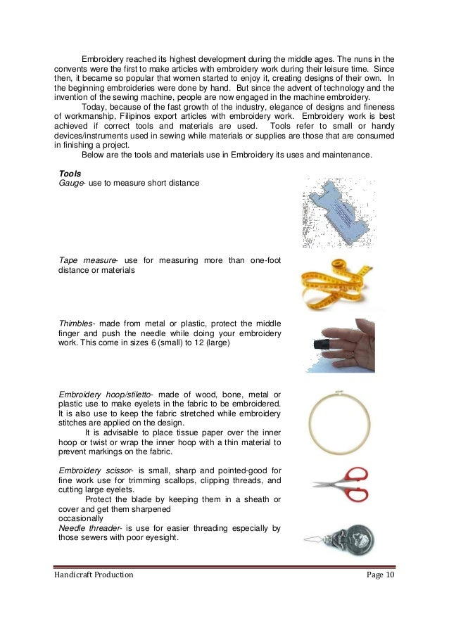 K 12 Module In Tle Grade 8 Second Grading Handicrafts