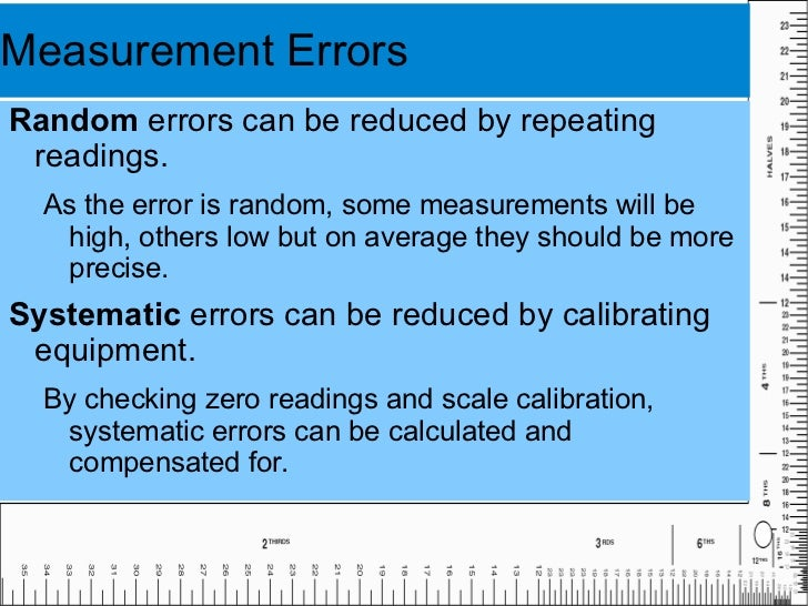 scientific measurement and error This lab explores, in a little more detail, how one can express the level of confidence associated with a scientific measurement the words uncertainty and error are used interchangeably in this context this is a misuse of the word error.
