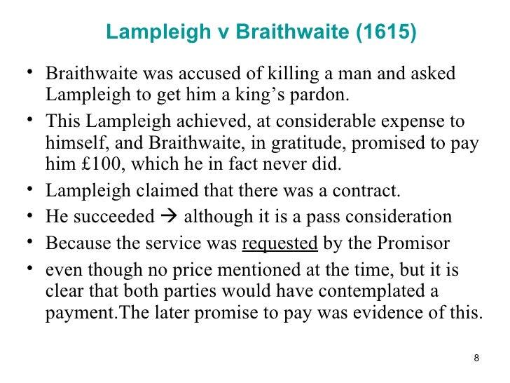 lampleigh v brathwait
