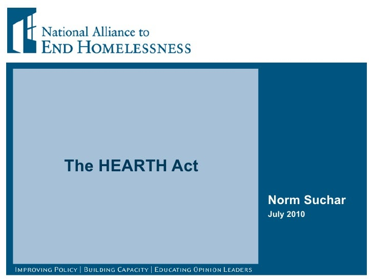 The HEARTH Act  Norm Suchar July 2010