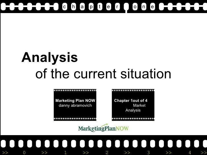 Analysis  of the current situation c   h  a   p   t  e   r  o  n  e Marketing Plan NOW  d anny abramovich Chapter 1out of ...